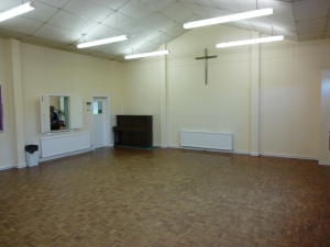Church Hall looking towards the kitchen.