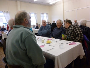 Church Hall in use for Tuesday Lunch Club.